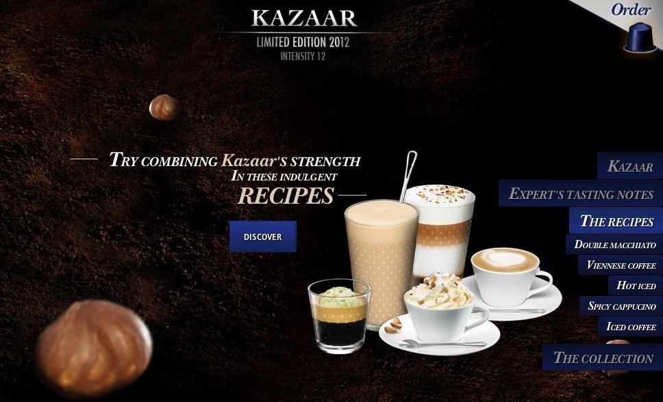 LattissimaPlusKazaarRecipes -> Nespresso Kazaar
